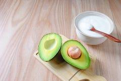 Yogur y aguacate foto de archivo libre de regalías