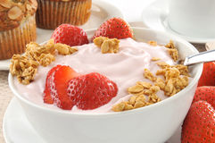Yogur y granola Fotos de archivo libres de regalías
