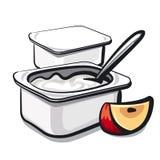 Yogurt with apple Royalty Free Stock Photo