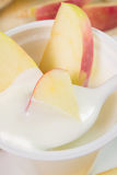 Yogurt with apples Royalty Free Stock Photos