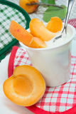 Yogurt with apricots Stock Photography
