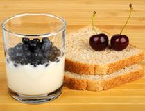 Yogurt and Berries Stock Photography