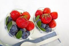 Yogurt with berries Stock Photo