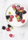 Yogurt with Berries Royalty Free Stock Photo