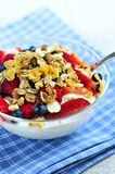 Yogurt with berries and granola Stock Photo