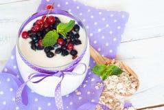 Yogurt with berries Stock Image