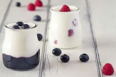Yogurt and berries Royalty Free Stock Image