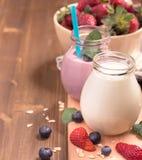 Yogurt and berries Royalty Free Stock Image