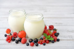 Yogurt with berry Royalty Free Stock Image