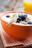 Yogurt with blueberries Stock Photo