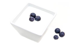 Yogurt with blueberries Royalty Free Stock Photo