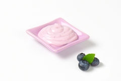 Yogurt with blueberry flavor Royalty Free Stock Photo