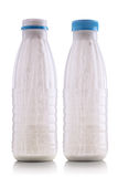 Yogurt bottles Stock Photo
