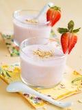 Yogurt breakfast Royalty Free Stock Photo