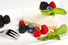 Yogurt cake. With forest fruit Stock Photo