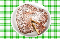 Yogurt cake in heart shape Royalty Free Stock Photography
