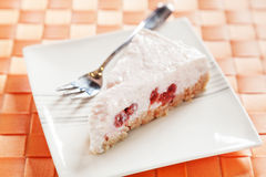 Yogurt cake with raspberries Stock Images