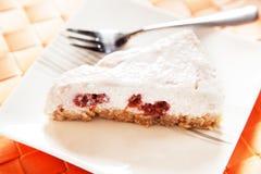 Yogurt cake with raspberries Royalty Free Stock Photo