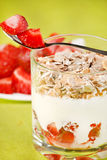 Yogurt with cereal Stock Photo