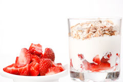 Yogurt with cereal Stock Image