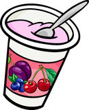 Yogurt clip art cartoon illustration Stock Photo