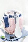Yogurt cocktail black currant lemon balm Stock Images