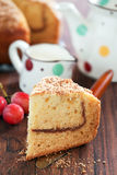 Yogurt coffee cake Stock Images