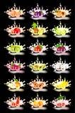 Yogurt con frutta fresca Fotografia Stock Libera da Diritti