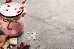 Yogurt con il muesli e le bacche Immagini Stock Libere da Diritti