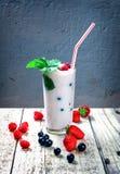 Yogurt con le bacche selvatiche Fotografia Stock Libera da Diritti