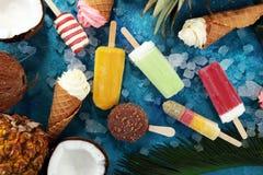 Yogurt congelato vaniglia o gelato molle nel cono della cialda Fotografia Stock