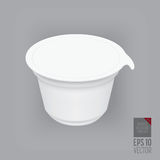 Yogurt container  Royalty Free Stock Photography