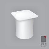 Yogurt container  Stock Image
