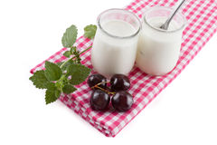 Yogurt cream Stock Image