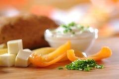 Yogurt cream with herbs Stock Image