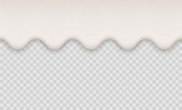 Yogurt creamy liquid or milk melt splash flowing background. White milk splash or ice cream flow soft texture on. Transparent background Royalty Free Stock Photo
