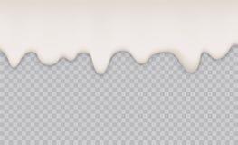 Yogurt creamy liquid or milk melt splash flowing background. White milk splash or ice cream flow soft texture on. Transparent background Stock Photos