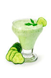 Yogurt with cucumber and parsley Royalty Free Stock Photos