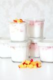 Yogurt in cup Royalty Free Stock Photography