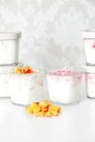 Yogurt in cup Stock Image