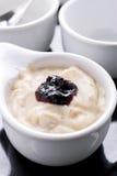 Yogurt da ameixa seca Imagem de Stock Royalty Free