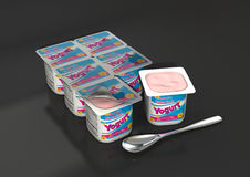 Yogurt da morango Foto de Stock
