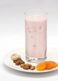 Yogurt da morango Imagens de Stock Royalty Free
