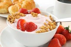 Yogurt da morango foto de stock