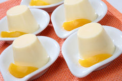 Yogurt dessert stock images