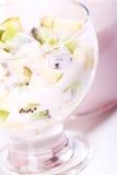 Yogurt dessert with fruits Stock Image