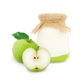 Yogurt di Apple Immagine Stock