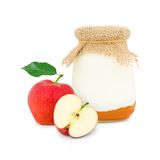Yogurt di Apple Fotografia Stock Libera da Diritti