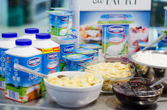 Yogurt di Danone Immagine Stock
