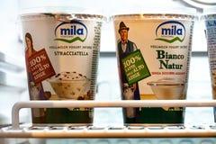Yogurt di Mila fotografia stock libera da diritti